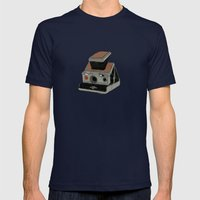 POLAROID SX70 Mens Fitted Tee Navy SMALL