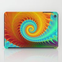 Toothed Spiral In Turquo… iPad Case