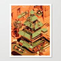 Super Tanklord Anatomy I… Canvas Print