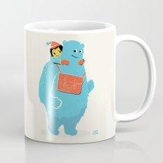 Blue-Monster Piggy-Ride Mug