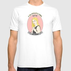 Buffy Summers - Apocalypse Print SMALL White Mens Fitted Tee