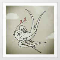 Peace Sparrow Art Print