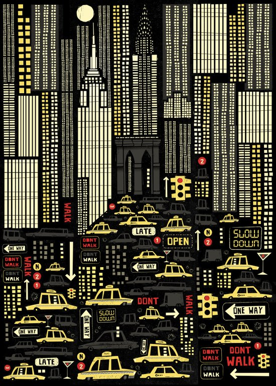 New York (Portrait) Art Print