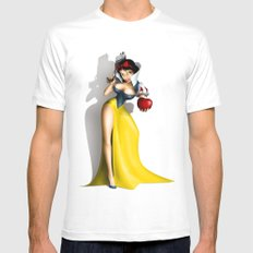 Snow White White Mens Fitted Tee SMALL