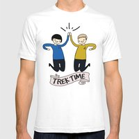 Trek Time Mens Fitted Tee White SMALL
