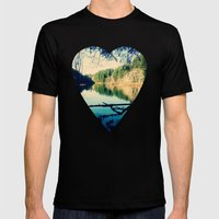 Lost Lake Love Mens Fitted Tee Black SMALL
