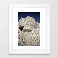 Barcelona: Cross Framed Art Print