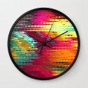 Megafunky rainbow patterns 5 Wall Clock