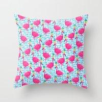 Party Flamingos Throw Pillow