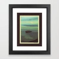 Mt. Baker and Protection Island Framed Art Print