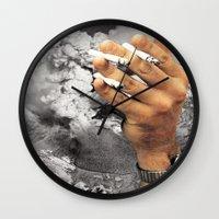 Even The Mountain Smokes Wall Clock