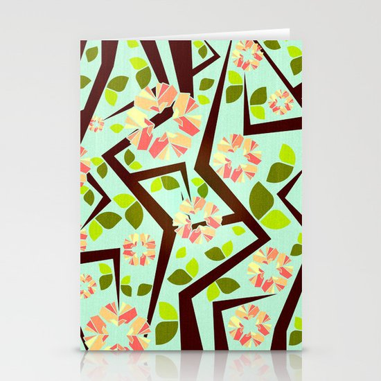Blooming Trees Pattern III Stationery Card