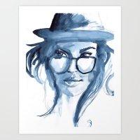 Just A Bit Blue Art Print
