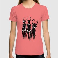 3 horned girls Womens Fitted Tee Pomegranate SMALL