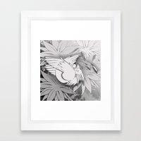 Flying Mysterion (B&W) Framed Art Print