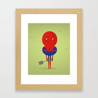 My bug hero! Framed Art Print