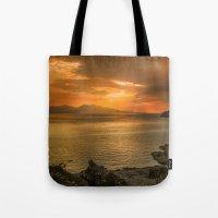 Sunset Over Lismore Isla… Tote Bag