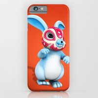 Lucha Rabbit-Blue Brother iPhone 6 Slim Case
