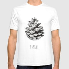 Fir cone Mens Fitted Tee White SMALL