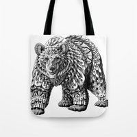 Ornate Bear Tote Bag