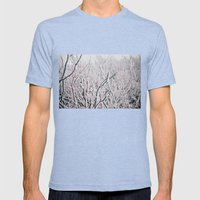 Winter Snow  Mens Fitted Tee Tri-Blue SMALL