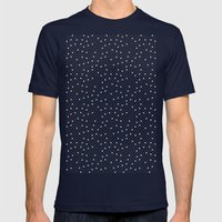 Pin Point Polka White On… Mens Fitted Tee Navy SMALL