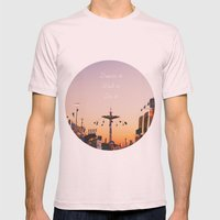 Dream it.Wish it. Do it Mens Fitted Tee Light Pink SMALL