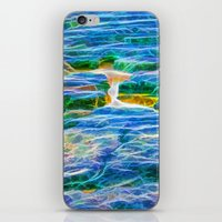 Abstract rock pool in the rough rocks in Queensland iPhone & iPod Skin