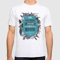 The Future's Near But Never Certain Mens Fitted Tee Ash Grey SMALL
