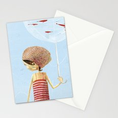 FISH IN UMBRELLA - triptych image 2 Stationery Cards