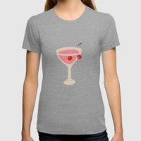 Alcohol_03 Womens Fitted Tee Tri-Grey SMALL