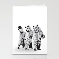 Funky Bears Stationery Cards