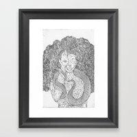 Snake and Sprite Framed Art Print