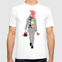 Rooster Mens Fitted Tee White SMALL