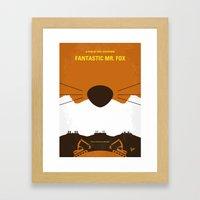 No673 My Fantastic Mr Fox minimal movie poster Framed Art Print