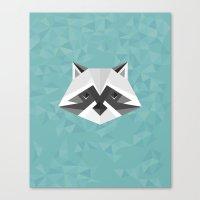 Geometric Racoon Canvas Print