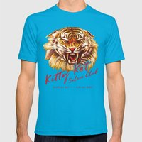 Kitty Kat Saloon Club - Purple Mens Fitted Tee Teal SMALL