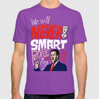 No Smart People Mens Fitted Tee Ultraviolet SMALL