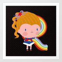 Rainbowbrite Art Print
