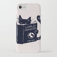 books iPhone & iPod Cases featuring World Domination For Cats by Tobe Fonseca