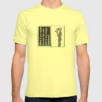 What if? Mens Fitted Tee Lemon SMALL