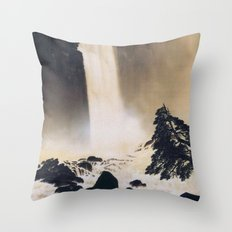 Morning in Ueno Throw Pillow