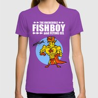 The Uncredible Fish Boy and Flying Eel! Womens Fitted Tee Ultraviolet SMALL