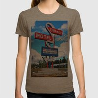Classic Motel Sign Womens Fitted Tee Tri-Coffee SMALL