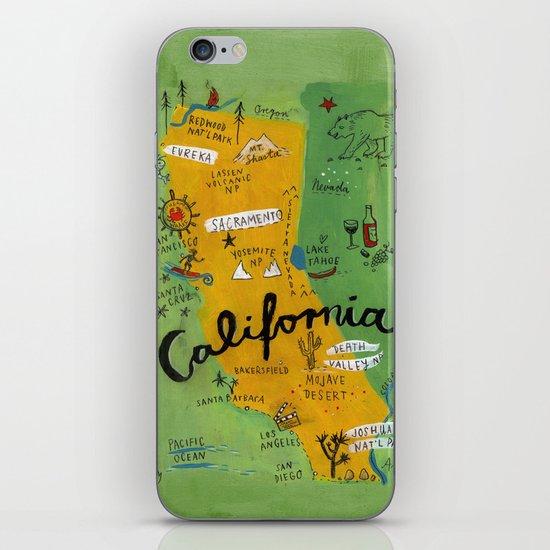 Postcard from California iPhone & iPod Skin