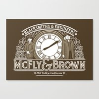 McFly & Brown Blacksmith… Canvas Print