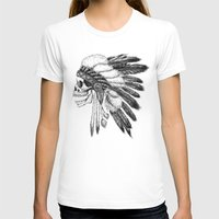 Native American Womens Fitted Tee White SMALL