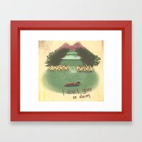 I Don't Give A Dam Framed Art Print