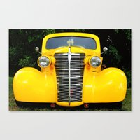 Yellow Chevy Canvas Print