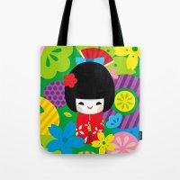Kokeshi Tote Bag